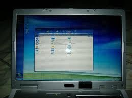 Laptop Screen Showing Horizontal Lines
